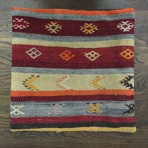 Boho Chic!  Authentic Turkish Kilim Pillow